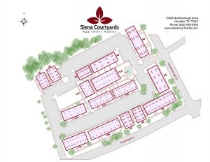 Siena Courtyards site map